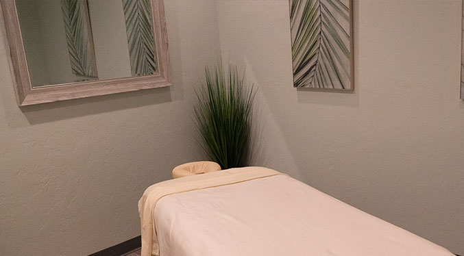 Our peaceful and mindful dedicated space is ideal for all available Wellness and Specialty massage services.