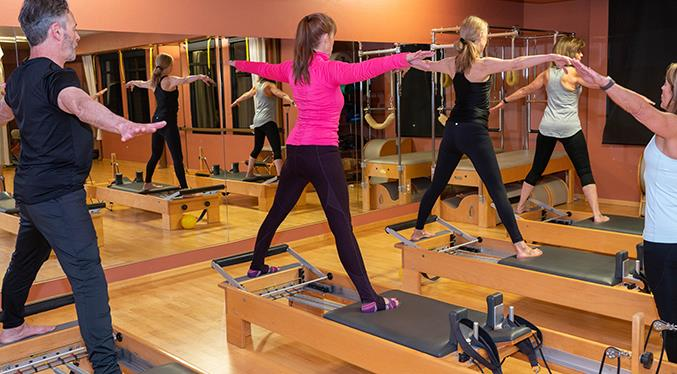 The sometimes tricky thing about a Pilates Reformer class is often the dismount that follows!