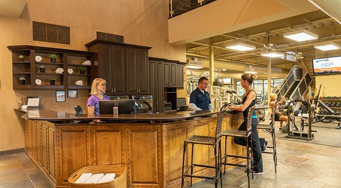The Front Desk is where members are  greeted cheerfully. And where questions are answered or concerns addressed.