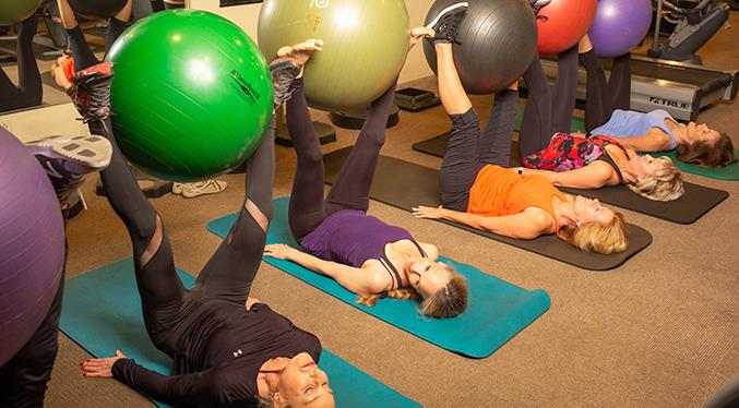 Proper breathing, stretching, balance...it's all part of this colorful ball-related exercise.